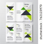 tri fold  design template ... | Shutterstock .eps vector #762123970