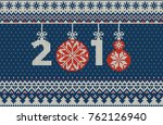 merry christmas and new year... | Shutterstock .eps vector #762126940