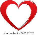 red heart valentine love logo... | Shutterstock .eps vector #762127870