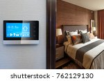 smart screen with smart home... | Shutterstock . vector #762129130