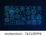 machine learning and artificial ... | Shutterstock .eps vector #762130996