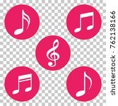 red colored music notes and... | Shutterstock .eps vector #762138166