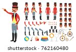 circus trainer vector. animated ... | Shutterstock .eps vector #762160480