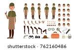 detective vector. animated tec... | Shutterstock .eps vector #762160486