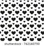 seamless pattern in hearts | Shutterstock .eps vector #762160750