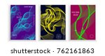 poster covers set with modern... | Shutterstock .eps vector #762161863