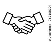 deal outline icon   Shutterstock .eps vector #762168304