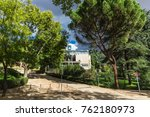 the surroundings of madrid and... | Shutterstock . vector #762180973