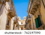 noto town in sicily  the... | Shutterstock . vector #762197590