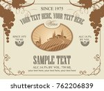 vector label for wine with... | Shutterstock .eps vector #762206839
