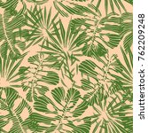seamless tropical pattern of... | Shutterstock .eps vector #762209248