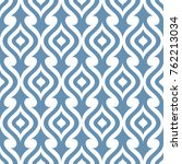 seamless ornamental pattern... | Shutterstock .eps vector #762213034