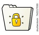 cartoon locked files | Shutterstock .eps vector #762217030