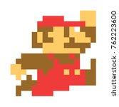 classic mario bros pixel art. ... | Shutterstock .eps vector #762223600