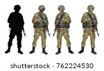 shooter soldier as color... | Shutterstock .eps vector #762224530
