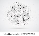 global network connections with ... | Shutterstock .eps vector #762226210