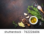 selection of spices  herbs and... | Shutterstock . vector #762226606