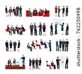 business meetings set of... | Shutterstock . vector #762250498