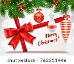 merry christmas greeting card... | Shutterstock . vector #762251446