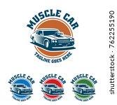 template of muscle car logo ... | Shutterstock .eps vector #762255190