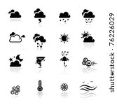 icons set weather | Shutterstock .eps vector #76226029