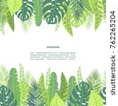 tropical leaves vector seamless ... | Shutterstock .eps vector #762265204