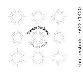 vintage sunburst elements... | Shutterstock .eps vector #762271450