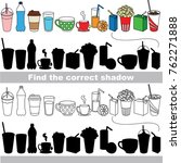 drinks set to find the correct... | Shutterstock .eps vector #762271888