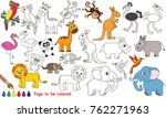 africal wild animals to be... | Shutterstock .eps vector #762271963