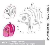 pink backpack. dot to dot...   Shutterstock .eps vector #762273073