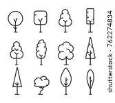 line art simple tree... | Shutterstock .eps vector #762274834