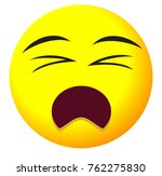 sad face icon with yellow emoji ... | Shutterstock .eps vector #762275830