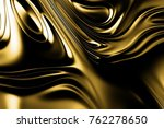 golden wave shiny background  | Shutterstock . vector #762278650
