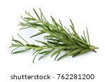 Rosemary Isolated On White...