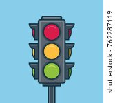 traffic light icon. flat style | Shutterstock .eps vector #762287119