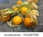 Cape Gooseberries On Wooden...