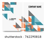 business brochure cover layout  ... | Shutterstock .eps vector #762290818