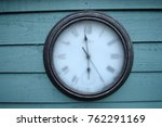 A clock frozen in time (on a frosty morning)