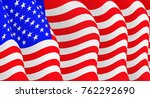 illustration of a flying  flag... | Shutterstock . vector #762292690