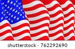 illustration of a flying  flag... | Shutterstock . vector #762292690