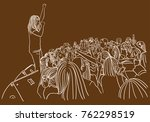 Vector Art Drawing Of Concert...