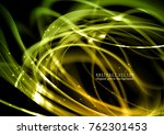 elegant green vector background.... | Shutterstock .eps vector #762301453