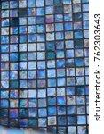 turquoise blue iridescent glass ...   Shutterstock . vector #762303643