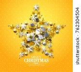 luxury christmas greeting card... | Shutterstock .eps vector #762304504