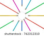 different colored cat5e... | Shutterstock . vector #762312310