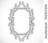 monochrome  delicate frame from ... | Shutterstock .eps vector #762317203