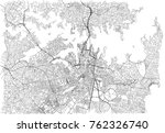 streets of sydney  city map ... | Shutterstock .eps vector #762326740