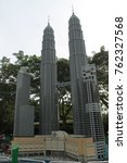 Small photo of Legoland Malaisia - October 13, 2017: city (Twins Kuala Lumpur) in miniature are manufactured by The Lego Group
