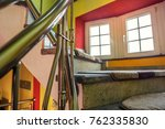 staircase in the house with... | Shutterstock . vector #762335830