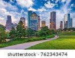 houston  texas  usa downtown... | Shutterstock . vector #762343474